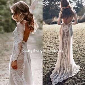 Dresses & Skirts - NEW✨Bohemian Rustic Wedding Lace Gown, 2-20W